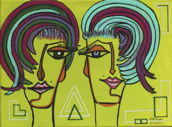 1448 Double Gaga IV 40x30